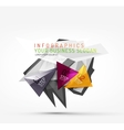 Modern polygonal origami paper infographics vector image vector image
