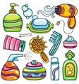 Icon set hygiene accessories vector image vector image