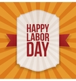 Happy Labor Day big white Banner vector image