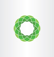 green polygon circle icon abstract background vector image