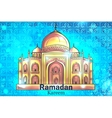 Mosque Ramadan Kareem background vector image