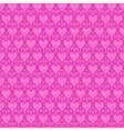 pink seamless pattern with hearts and beads vector image
