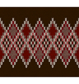 Seamless Color Knitted Pattern vector image