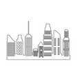skyscrapers building city business residential vector image