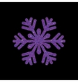 Snowflake glittering winter isolated on black vector image vector image