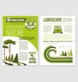 brochure for nature landscape design vector image vector image