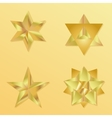 3d golden star set with variations vector image
