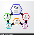 Conceptual Design template infographics elements vector image