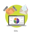 Business and Deal Flat Icons vector image