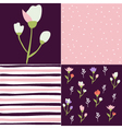 Set of floral pattern tulips vector image
