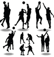 basketball silhouette vector image