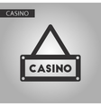 black and white style casino sign vector image