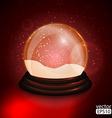 Christmas Snow globe vector image
