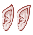 elf ears vector image