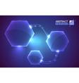 hexagon system futuristic background vector image