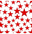 red star seamless pattern vector image