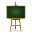 Wooden easel with school board vector image