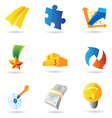 Icons for business symbols vector image vector image