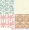 Vintage ornamental backgrounds set wedding style vector image vector image