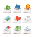 Web icons isolated on white vector image