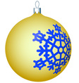 Cristmas ball vector image
