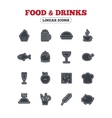 Food and Drinks icon Beer coffee cocktail vector image