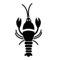 big lobster icon black sign vector image