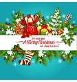 Christmas and New Year holidays poster design vector image