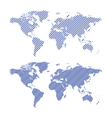 dark blue striped maps of world vector image