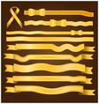 Gold ribbon and bow vector image