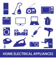 home electrical appliances set eps10 vector image