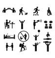 human pictogram set silhouette human vector image