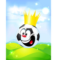 king of football - soccer ball with the royal vector image