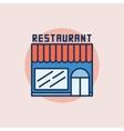Restaurant building flat icon vector image