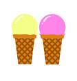 scooped ice cream simple flat vector image