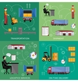Process of shipping and distribution goods vector image