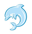 dolphin jumping in sea isolated on white vector image