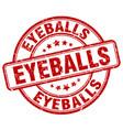 Eyeballs red grunge stamp vector image