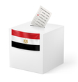 Ballot box with voting paper Egypt vector image