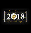 2018 happy new year black background with vector image