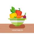 Salad ingredients set Salad ingredients vector image