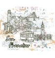 san francisco doodles vector image