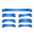 Ribbon blue banners set 1a vector image