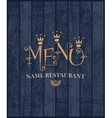 menu with wood texture vector image vector image