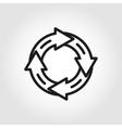 line arrow circle icon vector image