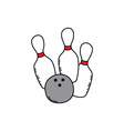 bowling cartoon icon theme vector image