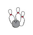 Bowling cartoon icon theme vector image