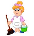 housewife cartoon vector image