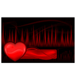 pulse waves and heart vector image