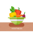 Salad ingredients set Salad ingredients vector image
